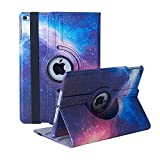 New iPad 9.7 inch 2018 2017/ iPad Air Case - 360 Degree Rotating Stand Smart Cover Case with Auto Sleep Wake for Apple iPad 9.7' (6th Gen, 5th Gen)/iPad Air (Galaxy)
