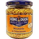 Reine de Djon - Mostaza en Grano - Mostaza a la Antigua- Ideal para Mejorar Tus Comidas - Producto Frances - 190 Gramos