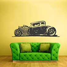 Wall Decal Vinyl Sticker Decals Hot Rod Car Auto Automobile Retro Old Muscule (Z2358)