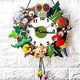 NOLOGO Js-mlx DIY Reloj de pared divertido Kindergarten aprendizaje Educación Niños juguetes...