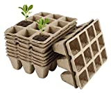 10 Unids Bandejas De Inicio De Semillas Bandejas De Semillas Biodegradables 12 Células Potes De Fibra Plántula Bandejas De Germinación Para Jardines, Parches Guarderías Y Invernaderos ( Size : 10pcs )