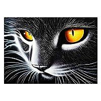 宗教パズル1500ピース黒猫の目ユニークなパズル