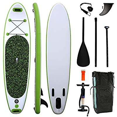"Airgymfactory Inflatable Stand Up Paddle Boards Premium SUP Accessories & Carbon Fiber Adjustable Paddle & Inflation and Deflation Double Action Bravo Pump 10'/10'6""/12'6"" (Mint Green Camouflage)"