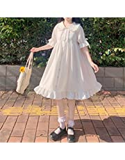 Yunbai Japanse Zoete Leuke Doll Kraag Lolita Jurk Zomer Nieuwe Gotische Witte Engel Kawaii Lolita Dagelijkse Jurken Feestkostuums