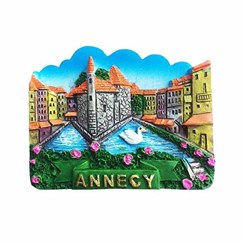 Wedare Annecy Alps France Aimant de réfrigérateur 3D Souvenir de voyage, fait à la main en France, décoration de maison et de cuisine