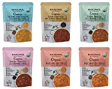 Khazana ORGANIC Ready to Eat Indian Meals Variety Pack - 6 x 10oz Pouches | Non-GMO, Vegan, Gluten...
