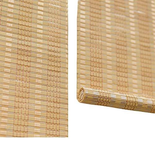 Bamboo Roll Up Blinds, Window Roller Blinds, Tenda Indoor Outdoor - Roman Shades per Balcone, Porte, Giardino, Patio, Teahouse, Studio, Ristorante, Facile da installare ZHANGAIZHEN