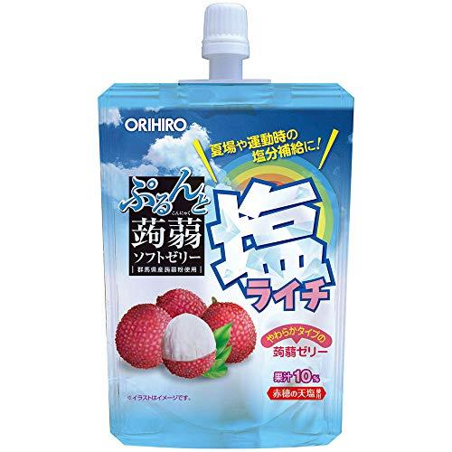 オリヒロ ぷるんと蒟蒻ゼリースタンディング 塩ライチ 130g×24個