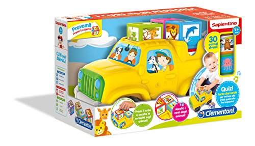 Clementoni 12082 - Cubo de los Animales para la Primera Infancia, Juguete 599, Colores Surtidos