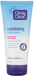 Clean & Clear Oil-Free Exfoliating Daily Face Wash, 150ml