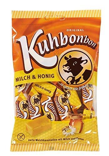 Kuhbonbons Milch und Honig Weichkaramell Bonbons Glutenfrei 200g