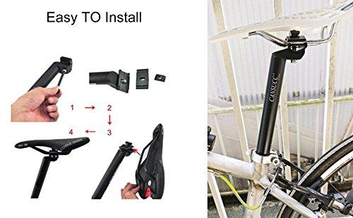 25.4 / 27.2 / 28.6 / 30.4 / 30.8 / 31.6 SeatPost 350mm CYSKY Bike Seat Post Suitable for Most Bicycle Mountain Bike Road Bike MTB MTN BMX (Aluminum Alloy, Black)