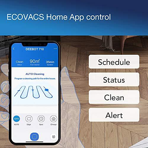 ECOVACS Robotics DEEBOT 710 Saugroboter (hohe Reinigungsleistung, systematische Navigation, reinigt alle Hartböden und Teppiche) weiß - 4