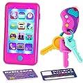 JOYIN Play-act Pretend Play Smart Phone, Keyfob Key Toy and Credit Cards Set Kids Toddler Cellphone Key Toys by Joyin Inc