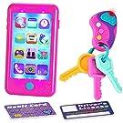 JOYIN Play-act Pretend Play Smart Phone, Keyfob Key Toy and Credit Cards Set Kids Toddler Cellphone Key Toys