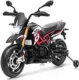COSTWAY Moto Eléctrica para Infantil con Ruedas de Soportes Motocicleta Juguete con Luces LED y Música Carga hasta 25 kg Adecuada para Niños de 3-8 Años
