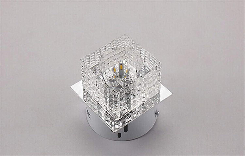 T-Tonranp Quadratische geführte Kristalldecken-Beleuchtungs-Lampen für Hauptdecken-Eingangslichter sufaced monted Weiß Light