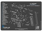 Cerus Gear Smith & Wesson M&P Schematic Promat, Charcoal Gray/Cerus Blue