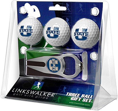 Learn More About NCAA Utah State University Aggies - 3 Ball Gift Pack with Hat Trick Divot Tool