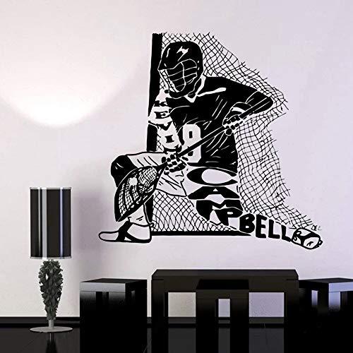 wopiaol Sticker Decal Hockey Ihr Name VinylWords Letters Einfache abnehmbare Wandtattoos Wohnzimmer
