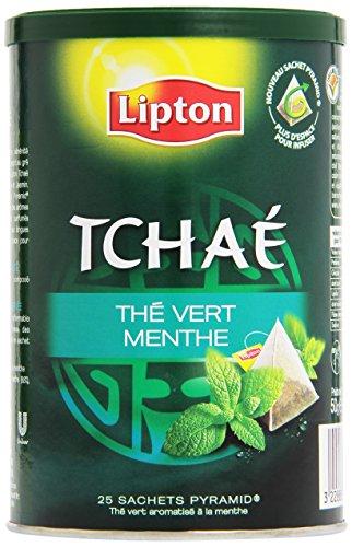 Lipton tchaé grün Tee Mint 25 Beutel - Set von 3