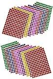 Febbya Gommettes Autocollantes Rondes,8mm Couleur Codage Étiquettes 3900 Auto-adhésifs de Points 16 Feuilles pour Le Bureau,école,calendriers,Autocollants de Carte