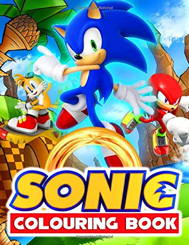 Sonic Colouring Book: Kids Coloring Books With 50+ Jumbo Illustrations In Black And White