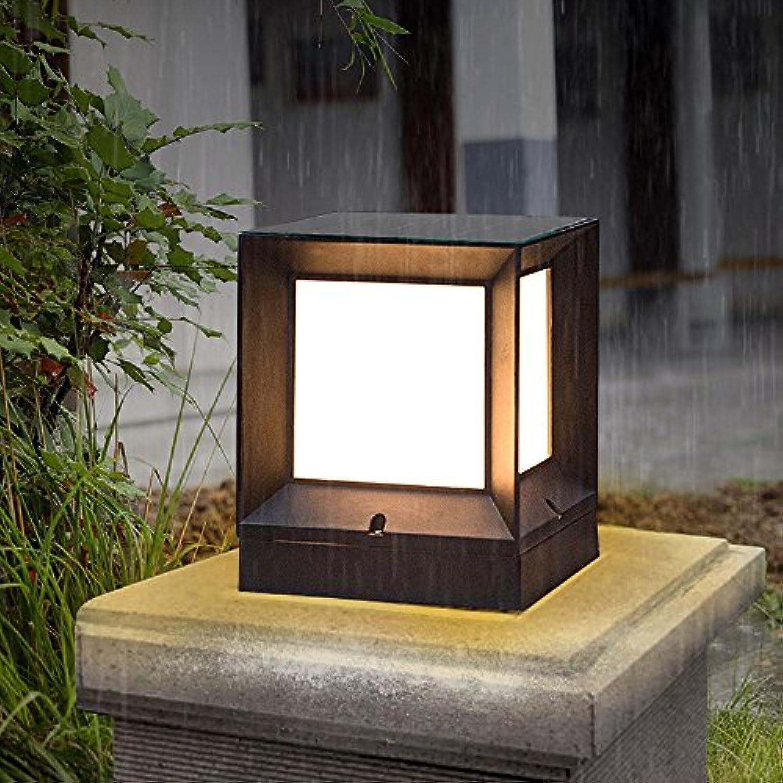 Modeen Europische Einfachheit LED Acryl Spalte Lampe im Freien wasserdichte Tischlampe E27 Dekoration Hof Tür Licht Zaun Tür Villa Balkon Straenlaterne Post Light (Gre   L)