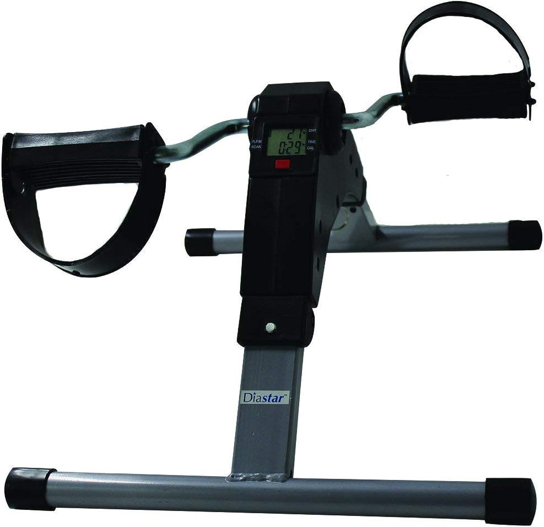 Diastar Deluxe Folding Exercise Peddler with Electronic Display, Black Black