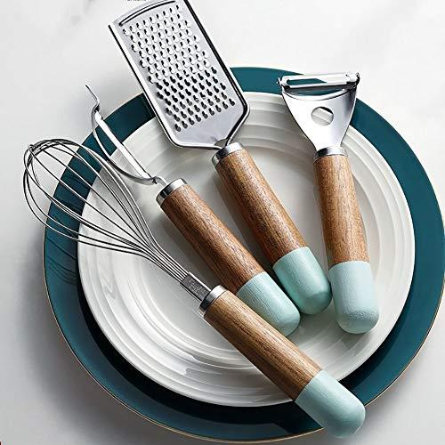 Ensemble de Gadgets de Cuisine, Set de Cuisine, Batterie de Cuisine, Antiadhésif et Anti-Rayures Ensemble D'ustensiles de Cuisine,Marron