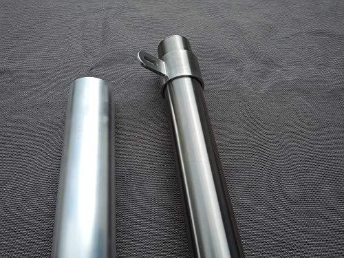 Sonnensegelmast aus Edelstahl 3m Länge in verschiedenen Varianten (Querschnitt: 60x2mm, Ösen: Stufenlos verstellbar, Hülse: 50cm 90°)