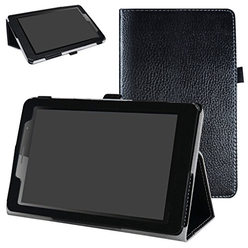 MAMA MOUTH Huawei MediaPad T3 8 Case, PU Leather Folio 2-folding Stand Cover with Stylus Holder for 8' Huawei MediaPad T3 Tablet PC,Black