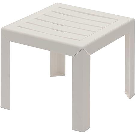 GROSFILLEX Miami Table, Blanc, 40 x 40 cm