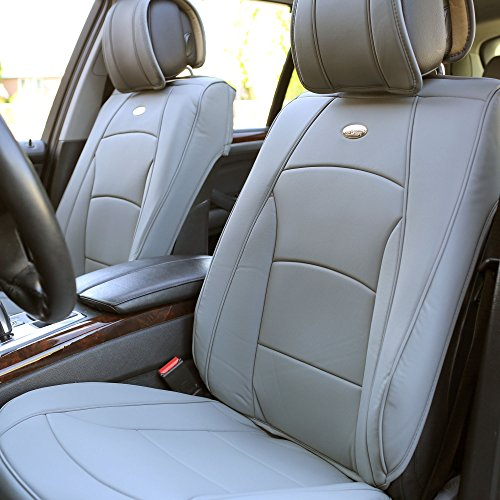 car seat cover leather grey - 3