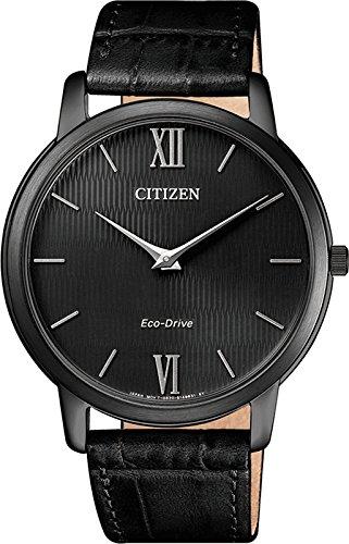 CITIZEN Herren Analog Quarz Uhr mit Leder-Kalbsleder Armband AR1135-10E