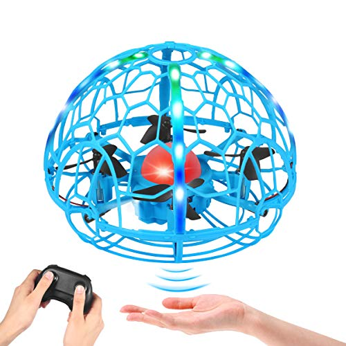 Drones for kids, Hand Operated Drones with Thrown' Go, Rotation Mini Drone for Beginners Childs Drones with LED Lights UFO Flying Ball Drone Toys for Boys and Girls