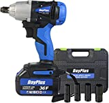Cordless Impact Wrench 1/2 inch Driver 18V 420N.m High Torque with...