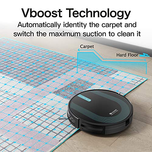 Proscenic 850T WLAN Saugroboter, Staubsauger Roboter, Alexa & Google Home & Appsteuerung, Saugroboter mit Wischfunktion, 3000Pa Saugleistung auf Teppichen und Hartböden, Magnetband für Begrenzung - 8
