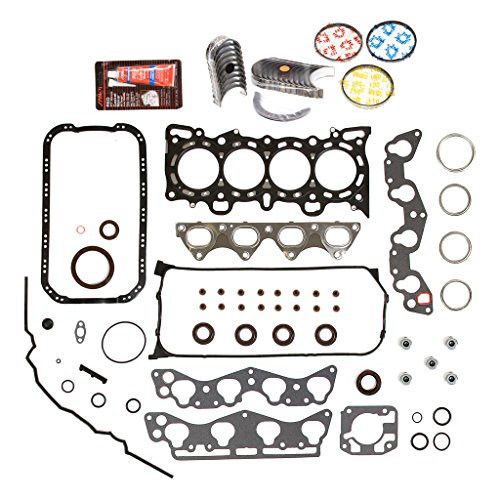 Domestic Gaskets Engine Rering Kit FSBRR4029EVE Compatible With 96-00 Honda Civic 1.6 D16Y5 D16Y7 Full Gasket Set, Standard Size Main Rod Bearings, Standard Size Piston Rings