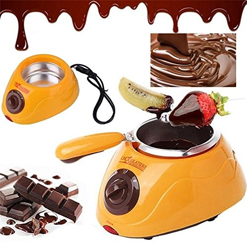 Chocolate Melting pot- Moonvvin elettrico pentola fonduta di cioccolato fontana con oltre 30accessori inclusi e 12ricette