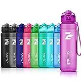 Borraccia Sportiva BPA Free Tritan Plastic ZOUNICH-500ml/17oz, 700ml/24oz, 1000ml/32oz, 1200ml/40oz-Bottiglia da Palestra Riutilizzabile Ideale da Corsa, Ciclismo, Scuola, Viaggi e Altro
