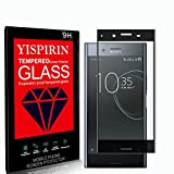 YISPIRIN [2 pezzi] Cristal Templado para Sony Xperia XZ Premium, [Dureza 9H, Anti-Rasguño,3D Cobertura Completa] Fácil de instalar, Vidrio Templado Protector de Pantalla para Sony Xperia XZ Premium