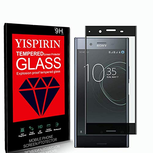 YISPIRIN Screen Protector for Sony Xperia XZ Premium, [2 Pack] [Anti Fingerprints ] [9H Hardness] [Case Friendly] [3D Curved Fit] Tempered Glass Screen Protector for Sony Xperia XZ Premium