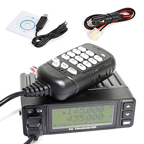 HYS TC-998S Mobile Transceiver Amateur Ham Radio Dual Band VHF 136-174mhz UHF 400-470mhz Base Mobile Car Radio Hamd Walkie Talkie Transceiver + Programming Cable Software