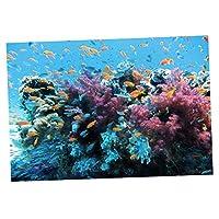水族館 魚のタンク 水槽 自己接着剤 背景 綺麗 ステッカー 装飾 生き生き 雰囲気 多種選べる - #12, S