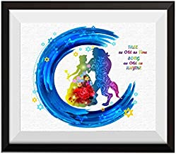 Uhomate Princess Belle Beauty and The Beast Beauty Beast Home Canvas Prints Wall Art Anniversary Gifts Baby Gift Inspirational Quotes Wall Decor Living Room Bedroom Bathroom Artwork C050 (8X10)