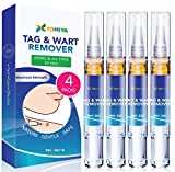 Tomiya Skin Tag Remover - Wart Remover - Quickly Remove Common And Plantar Warts - Corns - Callus -Skin Tag Removal(4 Packs) (Blue)