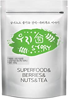 Wooriga Story Moringa Powder | 400g | 1 Pack, Easy to Take, Compact Nourishments, Finest Quality, Low Temperature Drying Method, 모링가