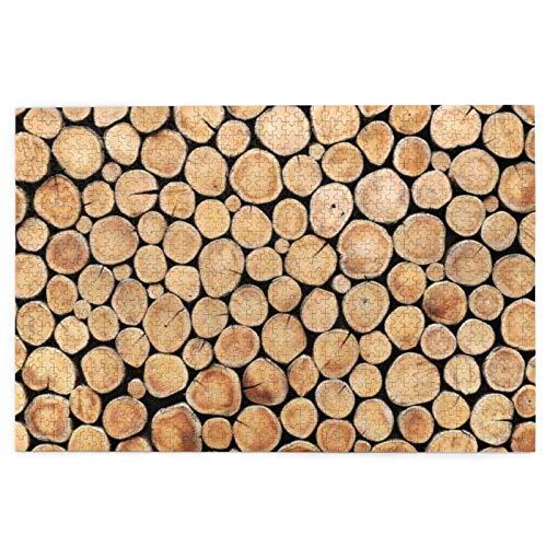 vhg8dweh Puzzles 1000 Stück, Log Round Teak Eye Plank Pflanze Holzstumpf Innen Holz Baumstamm, große Familie Puzzle Spiel Artwork für Erwachsene Jugendliche