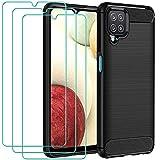 iVoler Cover per Samsung Galaxy A12 / Samsung Galaxy M12 con 3 Pezzi Pellicola Vetro Temperato,...